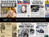 7 Newspaper Style Templates Bundle