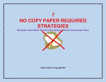 7 No Copy Paper Required Strategies