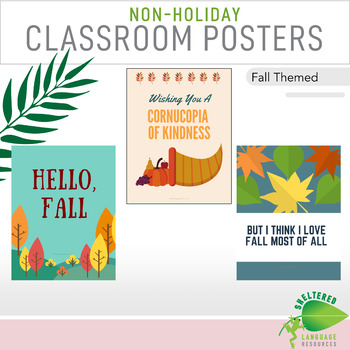7 Non Holiday Middle School Classroom Decor Posters Fall Theme