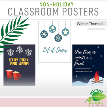 7 Non Holiday Middle School Classroom Decor Posters Winter Theme