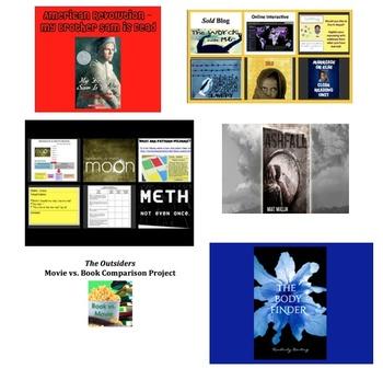 7 Novel Studies - Powerpoints and Activities Bundled
