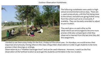 7 Outdoor Observation Worksheets