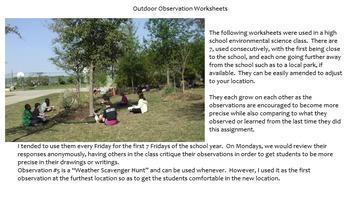 7 Outdoor Observation Worksheets