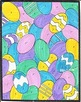 7 Page Easter Color By Number, Eggs, Easter Bunny, Basket,
