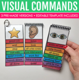 7-Page Editable Visual Command Flipbook for Special Education