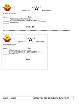 7 Page Packet of Misc Forms to Save, Print, and Use on the 1st Day of School