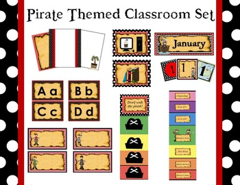 7 Piece Pirate Themed Classroom Set
