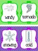 7 Piece Weather Clip Chart. Preschool-KDG. Class Accessories.