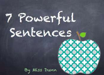 7 Powerful Sentences Writing Kit