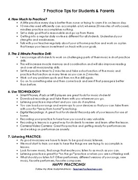 7 Practice Tips for Music Students & Parents