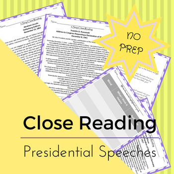 NO PREP Close Reading Most Influential Presidential Speeches