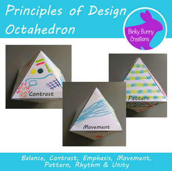 7 Principles of Design Octahedron Art Test Prep Review Activity