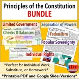 7 Principles of the Constitution : Government Activities