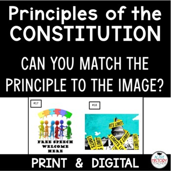Principles of the Constitution Using Pictures - Match the