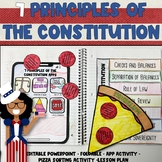 7 Principles of the Constitution Powerpoint, Foldable, and