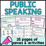 7 Public Speaking Games- Speech, Team-building, AVID, Icebreakers