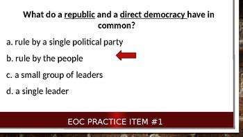 7 Quick and Easy Civics EOC Practice Questions