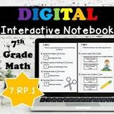 7.RP.1 Interactive Notebook, Computing Unit Rates Digital Notebook