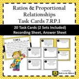 7.RP.1 Task Cards, Unit Rates with Complex Fractions Task Cards
