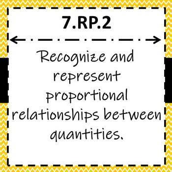 7.RP.2 Task Cards, Proportional Relationships Task Cards