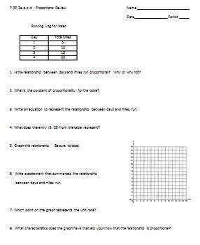 7.RP.2a,b,c,d Proportions Review