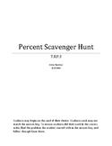 7.RP.3 Percent Scavenger Hunt