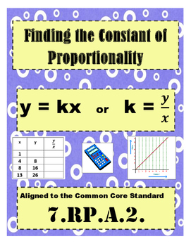 7.RP.A.2. Constant of Proportionality Mystery Puzzle