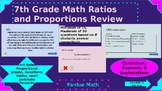 Ratios and Proportions Computer Activity with Leveled Ques
