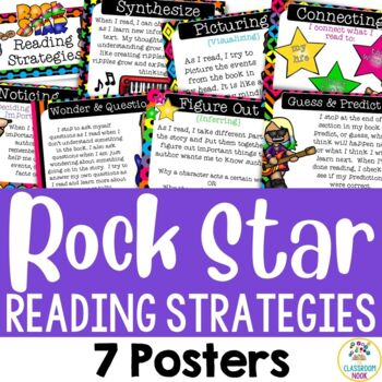 Rock and Roll Theme: Reading Strategy Posters