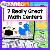 Math Bundle of 7 Games (Addition, Subtraction, Odd/Even & U.S. Coins)