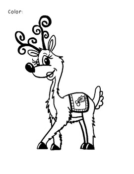 7 Reindeer Book and Activity pack