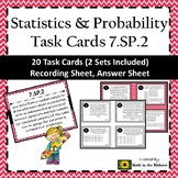 7.SP.2 Task Cards, Drawing Inferences from Random Samples Task Cards