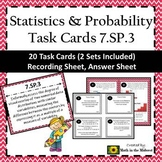 7.SP.3 Task Cards, Visual Data Overlap & Mean Absolute Deviation