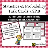 7.SP.8 Task Cards, Probability of Compound Events