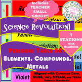ELEMENTS COMPOUNDS METALS SET for 7-Station ReviewREVOLUTION wStudentMiniBook