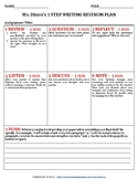 7 STEP WRITING REVISION PLAN