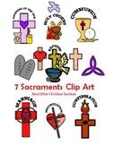 7 Sacraments & Other Christian Symbols Clip Art