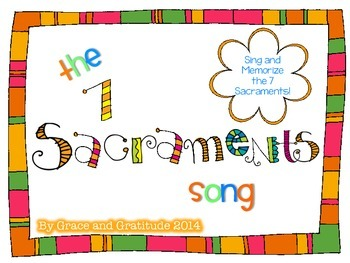 7 Sacraments Song Freebie by Grace and Gratitude | Teachers Pay ...