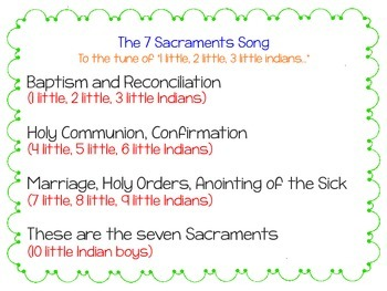 7 Sacraments Song Freebie