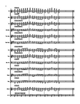 7 Scale Sheet - Full Band Set