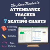 7 Seating Charts with Attendance Tracker & Summary Reports