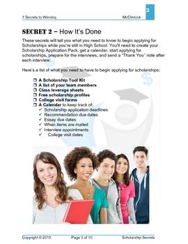 7 Secrets of Winning Scholarships