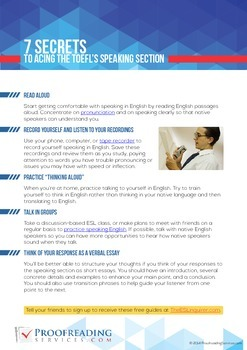 7 Secrets to Acing the TOEFL's Speaking Section