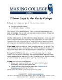 7 Smart Steps to Get You to College