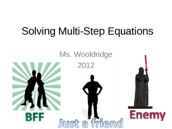 7) Solving Multi Step Equations w/Algebra Tiles & More (Complete PPT Lesson)