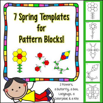 image about Printable Pattern Block named 7 Spring Templates for Practice Blocks