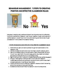 Behaviour Management: 7 Steps To Positive And Effective Classroom Rules