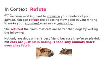 7 Steps Vocabulary Lesson - REFUTE