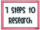 7 Steps to Research Posters