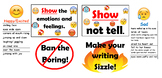 7 Steps to Writing - Show not tell posters
